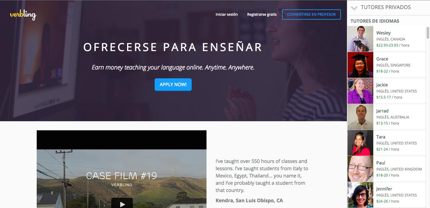 #IdeaFreelance 4: Enseña idiomas a través de verbling