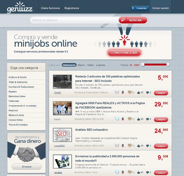 ¿Quieres tener varios mini-empleos? entonces prueba Geniuzz