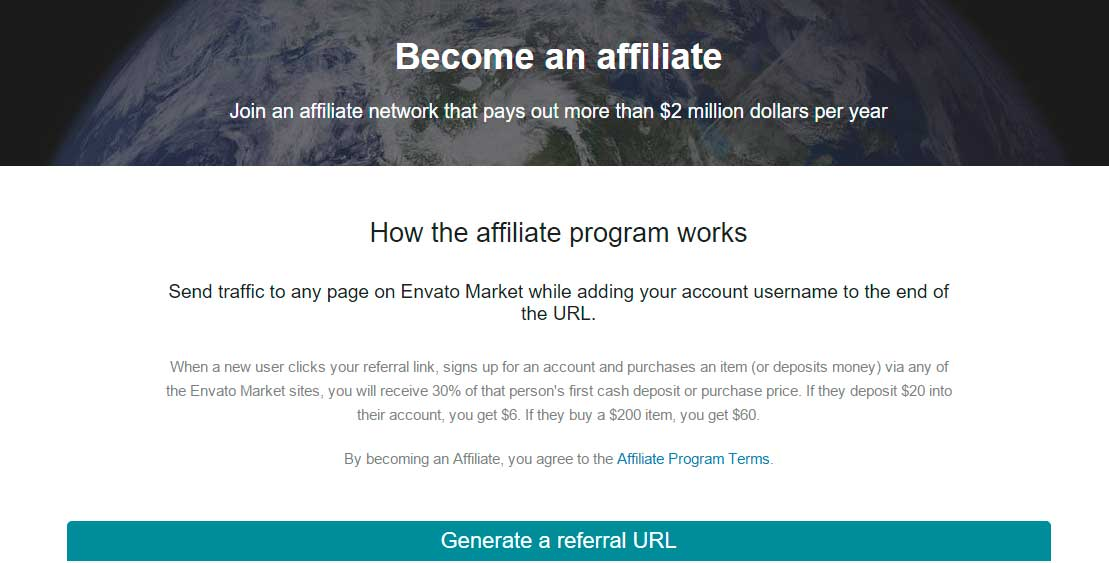 ganar dinero con Envato Market