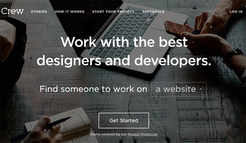 Trabaja freelancea través de Crew.co como diseñador web o móvil