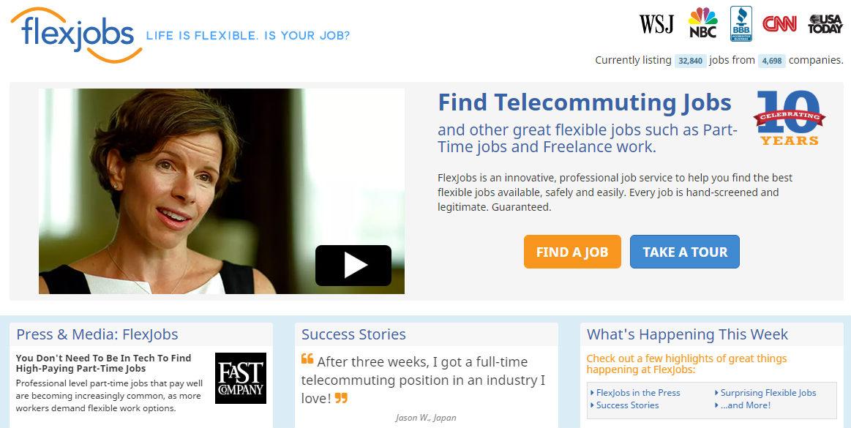Cómo conseguir trabajo freelance en FlexJobs