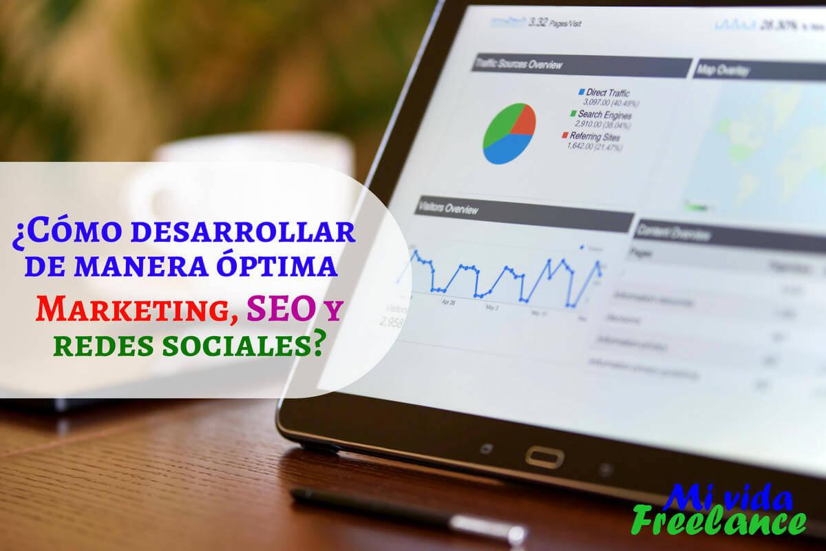 ¿Cómo desarrollar de manera óptima Marketing, SEO y redes sociales?
